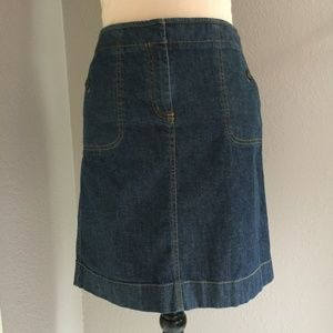 ANN TAYLOR Denim Pencil Skirt Size 8